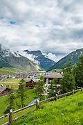 Italian Alps summer landscape Livingo, Lombardy, Italy