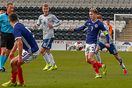 Scotland Captain Connor Smith (C)(Heart of Midlothian) during the U17 European Championships match between Scotland and Russia at Simple Digital Arena, Paisley, Scotland on 23 March 2019.