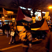 Hundreds of people gathered outside the Israelite embassy in Dublin, Ireland, to protest against Israel's military offensive in the Gaza Strip.