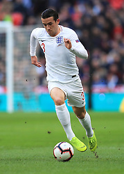 Ben Chilwell during the UEFA Nations League, Group A4 match at Wembley Stadium, London. PRESS ASSOCIATION Photo. Picture date: Sunday November 18, 2018. See PA story SOCCER England. Photo credit should read: Mike Egerton/PA Wire. RESTRICTIONS: Use subject to FA restrictions. Editorial use only. Commercial use only with prior written consent of the FA. No editing except cropping.
