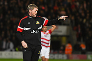 Grant McCann, Manager of Doncaster Rovers points out to his players during the EFL Sky Bet League 1 match between Doncaster Rovers and Sunderland at the Keepmoat Stadium, Doncaster, England on 23 October 2018.
