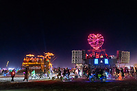 Mutant Vehicles Positioning for the Drone LightShow - https://Duncan.co/Burning-Man-2021