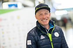Roman Podlipnik prior to the departure of Slovenian Paralympic team for Pyeongchang 2018 Winter Paralympics, on March 3, 2018 in Letalisce Jozeta Pucnika, Brnik, Slovenia. Photo by Vid Ponikvar / Sportida