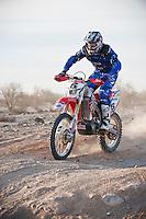 1st place motorcycle finisher Colton Udall at mile 30, 2011 San Felipe Baja 250