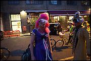 IAN DEEK; ZEBRA ASIOUS -HELGA Andrew Logan's Alternative Miss World 2014. Shakespeare's Globe, London. 18 October 2014.