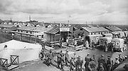 World War I 1914-1918: Secure German military hospital at Vigneulles, Lorraine, 1915. Medicine Warfare Wounded
