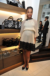 JOURDAN DUNN at a reception hosted by Vogue and Burberry to celebrate the launch of Fashions Night Out - held at Burberry, 21-23 Bond Street, London on 10th September 2009.