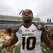 ORLANDO, FL - JANUARY 01: Kentrell Brothers #10 of the Missouri Tigers is seen on the field after winning the Buffalo Wild Wings Citrus Bowl between the Minnesota Golden Gophers and the Missouri Tigers at the Florida Citrus Bowl on January 1, 2015 in Orlando, Florida. (Photo by Alex Menendez/Getty Images) *** Local Caption *** Kentrell Brothers