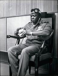 Jul. 07, 1975 - Credit: Camerapix Kampela, Uganda: Field-Marshal Idi Amin Dada seated at the opening of DAU Foreign Ministers meeting. (Credit Image: © Keystone Press Agency/Keystone USA via ZUMAPRESS.com)