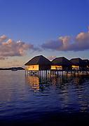 Image of the overwater bungalows at Hotel Bora Bora on Bora Bora, Tahiti, French Polynesia by Randy Wells