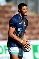 Melani Nanai of Worcester Warriors warms up prior to kick off - Mandatory by-line: Ryan Hiscott/JMP - 13/09/2020 - RUGBY - Twickenham Stoop - London, England - London Irish v Worcester Warriors - Gallagher Premiership Rugby