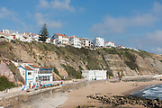 South beach on the 26th May 2018 in Ericeira in Portugal. Ericeira is a civil parish and seaside resort/fishing community on the western coast of Portugal.