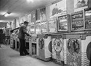 Y-580306-31 Seaside arcades March 6, 1958. Seaside Judge Harry Ohlman Jr. embezzled $7000 playing pinball. March 6, 1958