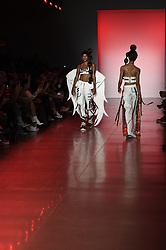 September 12, 2018 - New York, New York, U.S - September, 2018 - New York, New York  U.S. - Models on the runway at the NAMILIA S/S 2019 RTW show during New York Fashion Week 2018.  (Credit image (c) Theano Nikitas/ZUMA Wire/ZUMAPRESS.com (Credit Image: © Theano Nikitas/ZUMA Wire)