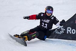 Naiying Gong (CHN) during Final Run at Parallel Giant Slalom at FIS Snowboard World Cup Rogla 2019, on January 19, 2019 at Course Jasa, Rogla, Slovenia. Photo byJurij Vodusek / Sportida
