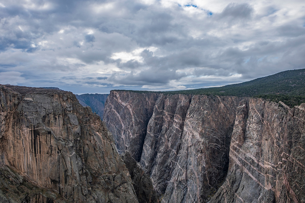 One of the first overlooks you come to on the north side of Black Canyon of the Gunnison NP is this view, The Narrows Viw.