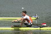 2002 FISA World Cup. Hazewinkel. BEL.       Friday  14/06/2002     .email images@Intersport-images.com.[Mandatory Credit: Peter Spurrier/Intersport Images]  .                                 /06/2002.Rowing. .NED M1X. Dirk LIPPETS Rowing, FISA WC.Hazenwinkel, BEL
