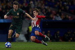 November 28, 2018 - Madrid, Spain - Aleksandr Golovin of Monaco  and Antoine Griezmann of Atletico Madrid during the UEFA Champions League match between Atletico Madrid and AS Monaco at Wanda Metropolitano Stadium in Madrid, Spain on November 28, 2018  (Credit Image: © Jose Breton/NurPhoto via ZUMA Press)