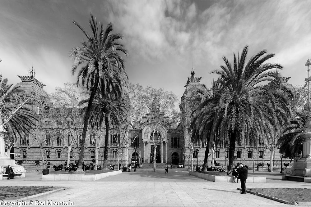 Barcelona, Spain - February 20, 2018 - Image taken outside the High Court of Justice of Catalonia (Tribunal Superior de Justícia de Catalunya). <br /> <br /> Image: © Rod Mountain<br /> <br /> https://www.rodmountain.com <br /> <br /> @spain @visitbarcelona<br /> <br /> @spain.info<br /> <br /> @VisitBCN_EN <br /> <br /> <br /> https://www.spain.info/en/<br /> https://www.barcelonaturisme.com/wv3/en/<br /> https://en.wikipedia.org/wiki/Barcelona<br /> https://en.wikipedia.org/wiki/High_Court_of_Justice_of_Catalonia<br /> <br /> <br /> #storyofthestreet #imaginatones #streettogether #ourstreets #ig_street #shotaroundmag #icu_architecture #ic_bw #bwgrammer #bnw_europe #negroyblanco #bwgrammer #bw #bwphotography #bwphotographylovers #bnw_life #yngkillers #bwsquare #photostory #roamtheplanet#explorer #optoutside#createexplore #outforawalk #latergram #NikonCA #NikonEurope