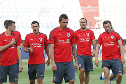 11.06.2015, Stadion Poljud, Split, CRO, UEFA Euro 2016 Qualifikation, Kroatien vs Italien, Gruppe H, Training Kroatien, im Bild Mario Mandzukic // during trainig of Team Croatia prior to the UEFA EURO 2016 qualifier group H match between Croatia and and Italy at the Stadion Poljud in Split, Croatia on 2015/06/11. EXPA Pictures © 2015, PhotoCredit: EXPA/ Pixsell/ Ivo Cagalj<br /> <br /> *****ATTENTION - for AUT, SLO, SUI, SWE, ITA, FRA only*****