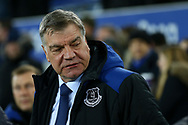 Everton Manager Sam Allardyce looks on. Premier league match, Everton v Leicester City at Goodison Park in Liverpool, Merseyside on Wednesday 31st January 2018.<br /> pic by Chris Stading, Andrew Orchard sports photography.