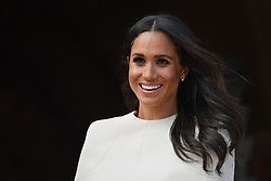 The Duchess of Sussex at Chester Town Hall where she and Queen Elizabeth II are having lunch as guests of Cheshire West and Chester Council.