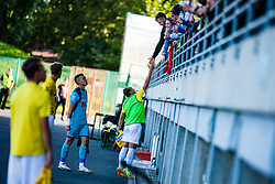Marko Klemencic of NK Bravo with spectators during football match between NK Bravo and NK Koper in 4th Round of Prva liga Telekom Slovenije 2020/21, on September 19, 2020 in Sport park ZAK, Ljubljana, Slovenia. Photo by Grega Valancic / Sportida