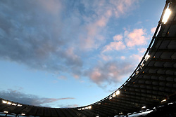 General view as the sun sets over the stadium during the NatWest 6 Nations match at the Stadio Olimpico, Rome.