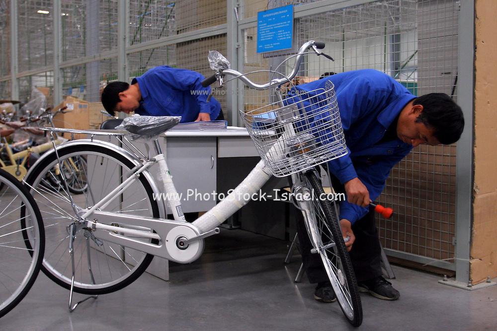 China, Beijing, Bicycle factory