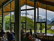 The Old Mountaineers Cafe Bar & Restaurant. Aoraki Mount Cook Village, Aoraki / Mount Cook National Park, Canterbury region, South Island, New Zealand. In 1990, UNESCO honored Te Wahipounamu - South West New Zealand as a World Heritage Area.