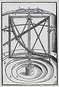 Large metal quadrant used by Brahe at Hven. From his 'Astronomiae instaurate mechanica', 1602.