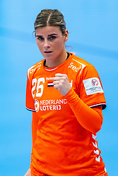 Angela Malestein of Netherlands during the Women's EHF Euro 2020 match between Netherlands and Germany at Sydbank Arena on december 14, 2020 in Kolding, Denmark (Photo by RHF Agency/Ronald Hoogendoorn)