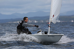 Day 4 NeilPryde Laser National Championships 2014 held at Largs Sailing Club, Scotland from the 10th-17th August.<br /> <br /> 199441, Calum TAIT<br /> <br /> Image Credit Marc Turner