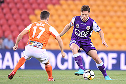 January 18, 2018 - Brisbane, QUEENSLAND, AUSTRALIA - Chris Harold of the Glory (#14) controls the ball during the round seventeen Hyundai A-League match between the Brisbane Roar and the Perth Glory at Suncorp Stadium on January 18, 2018 in Brisbane, Australia. (Credit Image: © Albert Perez via ZUMA Wire)