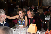 REBECCA KORNER; MARK REYNIE, Pedro Girao of Christies and Duncan Macintyre of Lombard Odier host the last dinner at the Old Annabels. 44 Berkeley Sq. London. 15 November 2018