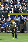 Friday 3rd August 2001..Tish Johnson, putt's on the 13th.2001 Weetabix Women's Open, Sunningdale,..[Mandatory Credit Peter Spurrier/ Intersport Images]