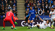 Riyad Mahrez of Leicester city  scores his teams 2nd goal to put his side 2-0 up. Premier league match, Leicester City v Watford at the King Power Stadium in Leicester, Leicestershire on Saturday 6th May 2017.<br /> pic by Bradley Collyer, Andrew Orchard sports photography.