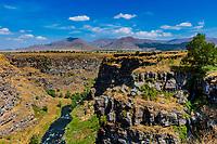 Lori Berd canyon panorama landscape Stepanavan landmark of Lorri Armenia eastern Europe