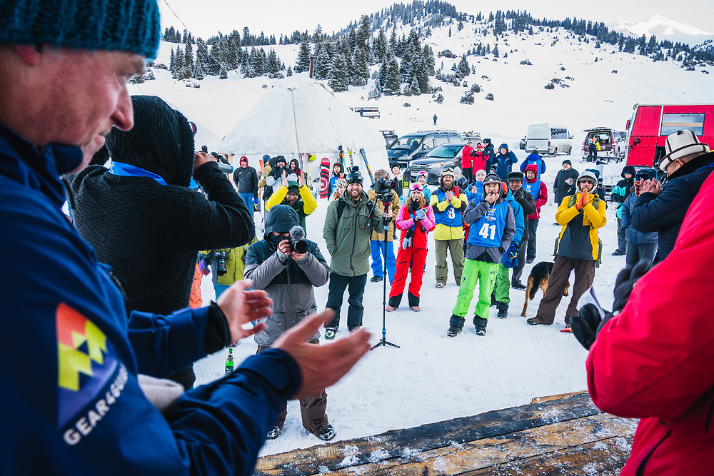 The awards ceremony - Day 4 Silk Road Freeride Competition, Jyrgalan, KG.