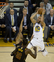 May 31, 2018 - Oakland, California, U.S - Stephen Curry #30 of the Golden State Warriors goes for a  layup during  their NBA Championship Game 1 with the  Cleveland  Cavaliers at Oracle Arena in Oakland, California  on Thursday,  May 31, 2018. (Credit Image: © Prensa Internacional via ZUMA Wire)