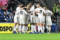 Football - 2018 / 2019 Premier League - Cardiff City vs. Wolverhampton Wanderers<br /> <br /> Matt Doherty of Wolverhampton Wanderers celebrates scoring his team's first goalat Cardiff City Stadium.<br /> <br /> COLORSPORT/WINSTON BYNORTH