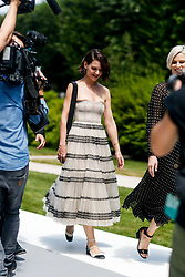 Street style, Katie Holmes arriving at Dior Fall-Winter 2018-2019 Haute Couture show held at Musee Rodin, in Paris, France, on July 2nd, 2018. Photo by Marie-Paola Bertrand-Hillion/ABACAPRESS.COM