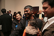 Irana G.R., Other,Riyas Komu and Peter Drake. - VIP  launch of Aicon. London's largest contemporary Indian art gallery. Heddon st. and afterwards ant Momo.15 Marc h 2007.  -DO NOT ARCHIVE-© Copyright Photograph by Dafydd Jones. 248 Clapham Rd. London SW9 0PZ. Tel 0207 820 0771. www.dafjones.com.