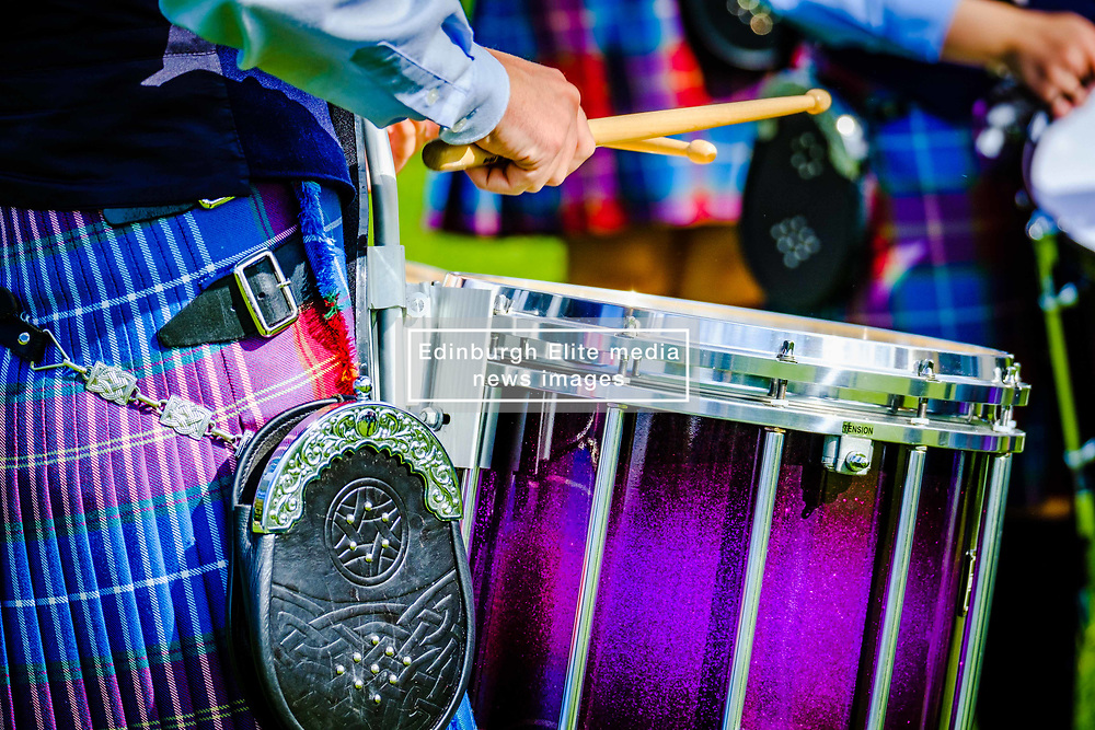 Peebles, Scotland UK 2nd September 2017. Peebles Highland Games, the biggest 'highland' games in the Scottish Borders took place in Peebles on September 2nd 2017 featuring pipe band contests, highland dancing competitions, haggis hurling, hammer throwing, stone throwing and other traditional events.<br /> <br /> (c) Andrew Wilson   Edinburgh Elite media