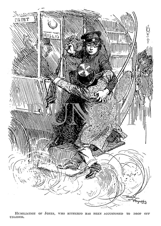 Humiliation of Jones, who hitherto has been accustomed to drop off unaided.