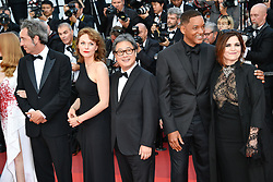 Paolo Sorrentino, Maren Ade, Park Chan Wook, Will Smith, Agnes Jaoui arriving for the 70th Cannes Film Festival closing ceremony on May 28, 2017 in Cannes, France. Photo by Julien Zannoni/APS-Medias/ABACAPRESS.COM