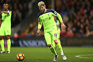 Alberto Moreno of Liverpool in action. Premier League match, Crystal Palace v Liverpool at Selhurst Park in London on Saturday 29th October 2016.<br /> pic by John Patrick Fletcher, Andrew Orchard sports photography.