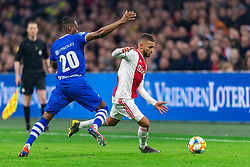 13-03-2019 NED: Ajax - PEC Zwolle, Amsterdam<br /> Ajax has booked an oppressive victory over PEC Zwolle without entertaining the public 2-1 / Kingsley Ehizibue #20 of PEC Zwolle, Zakaria Labyad #19 of Ajax