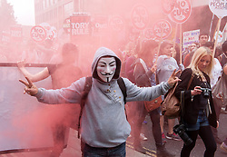© Licensed to London News Pictures. 20/06/2015. London, UK.  The March against Austerity, organised by the People's Assembly, against Government cuts to public spending and public services.  Photo credit : Simon Chapman/LNP