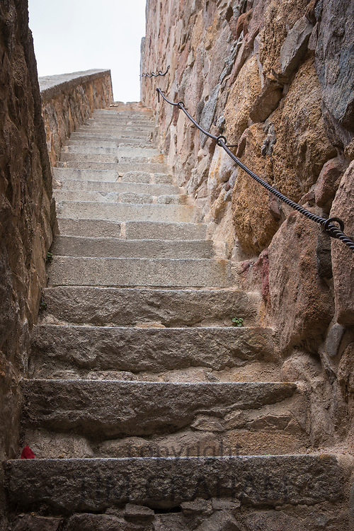 Stairway to heaven - old stone steps in Avila, Spain